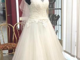 Elegantiška vestuvinė suknelė, pirkta užsienyje.