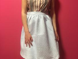 Naujas žydras pūstas raštuotas sijonas