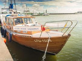 Senovinė švediška motorinė jachta Nidoje
