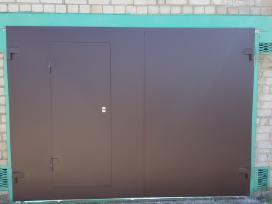 Metalinių garažo vartų gamyba, montavimas
