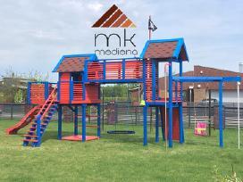 Vaikų žaidimų aikštelės ir priedai