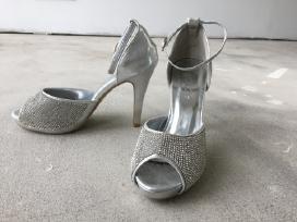 Vestuviniai bateliai aukštakulniai sidabriniai