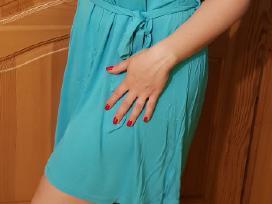 Trikotažinė turkio spalvos suknelė