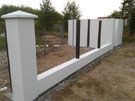 Tvoros segmentinės , medinės , metalinės , tinklas - nuotraukos Nr. 7