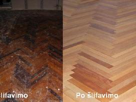 Parketo,grindu slifavimas,atnaujinimas ir lakavima