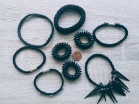 Įvairios juodos plaukų gumytės
