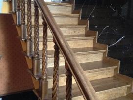 Parketo slifavimas-mediniu laiptu restauravimas - nuotraukos Nr. 9