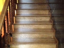 Parketo slifavimas-mediniu laiptu restauravimas - nuotraukos Nr. 11