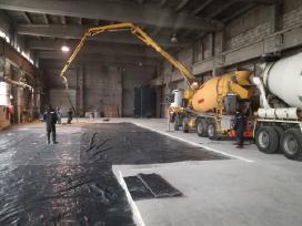 Pramoninių grindų betonavimas Smėlbetonio grindys