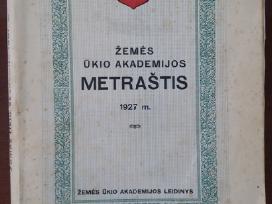 Žemės ūkio akademijos metraštis 1927 m
