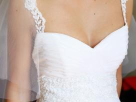 Vestuvinė suknelė su nuimamu šleifu