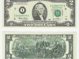 Parduodu retus 2 dolerių banknotus.