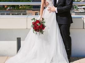 Nuostabi dviejų dalių vestuvinė suknelė - nuotraukos Nr. 3