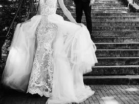 Nuostabi dviejų dalių vestuvinė suknelė - nuotraukos Nr. 4