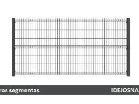 Tvoros segmentai, stulpai, vartai, varteliai ir kt