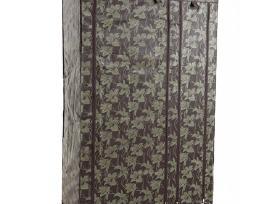 Tekstilinė drabužių spinta, ruda raštuota