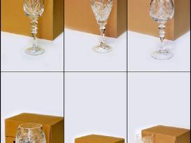 Akcija-krištolo taurėms,stiklinėms,taurelėms