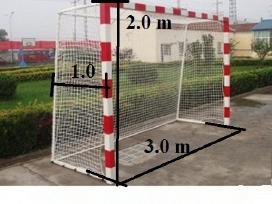 Futbolo vartų tinklas 35 eurai 3x2x1 m
