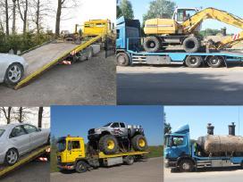 Tralas Platforma, Krovinių Traktorių vežimas 16,5t