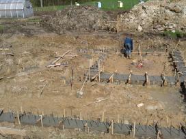 Pamatų įrengimas, sienų, laiptų betonavimas - nuotraukos Nr. 2