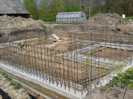 Pamatų įrengimas, sienų, laiptų betonavimas - nuotraukos Nr. 3