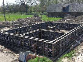 Pamatų įrengimas, sienų, laiptų betonavimas - nuotraukos Nr. 4