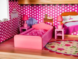 Didelis medinis lėlių namas su baldais tik 89,99 - nuotraukos Nr. 3