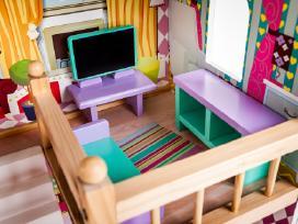 Didelis medinis lėlių namas su baldais tik 89,99 - nuotraukos Nr. 5
