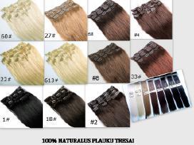 Nauji 100% naturalus plauku tresai