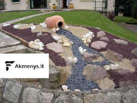 Skalda, akmenukai, plokštės, dekoratyvūs akmenys