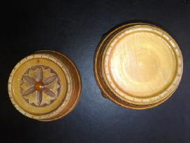 Naturalaus medžio bačkutė su gintaru papuošalams - nuotraukos Nr. 2