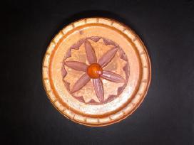Naturalaus medžio bačkutė su gintaru papuošalams - nuotraukos Nr. 8