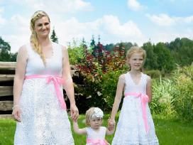 Rankų darbo, vienetinės Krikšto suknelės