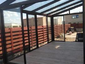Balkonų ir terasų stiklinimas