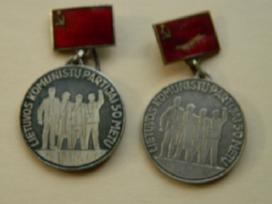 Lietuvos komunistu partijai 50 m.sidabras
