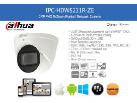 Dahua Starlight Ip Kamera su zoom 5x Mic Ir Ip67