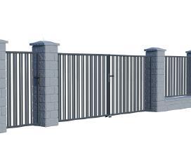 Metalinės tvoros vartai, varteliai, automatika - nuotraukos Nr. 15