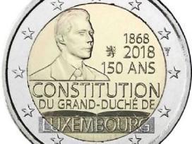 """Liuksemburgas 2 euro 2018 """"Konstitucija"""" Unc"""