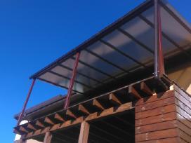 Metalinės konstrukcijos,angarai,laiptai,turėklai.