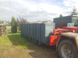 Nomojami konteineriai statybinem atliekom mesti