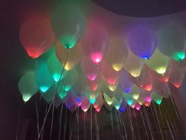 Led, helio balionai