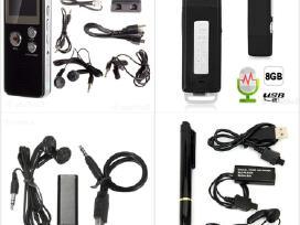 Nauji įvairūs diktofonai su stipriais mikrofonais