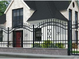 Metalinės tvoros vartai, varteliai, automatika - nuotraukos Nr. 17