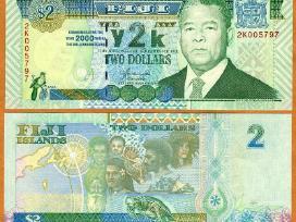 Fidžis 2 Dollars 2000m. P102a Unc Proginė