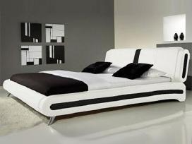 Nauja odinė lova su nauju čiužiniu - nuotraukos Nr. 2