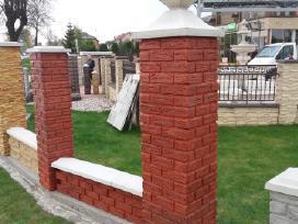 Tvoros, blokeliai tvorų stulpams, pamato elementai