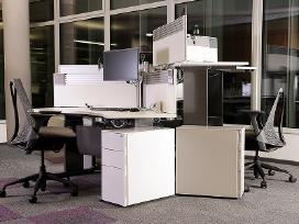 Biuro spintelės su žaliuzėm Švediški biuro baldai - nuotraukos Nr. 16