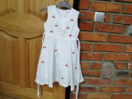 Balta vasariška suknelė 5 metų mergaitei