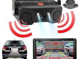 Galinio vaizdo kamera parktronikas su LCD ekranu