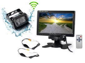 Belaidė galinio vaizdo kamera sunkvežimiams 12-24v